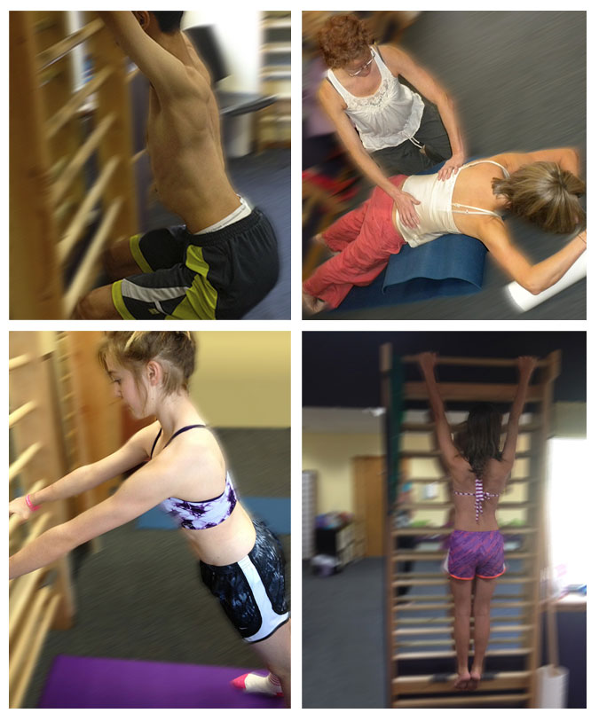 Scoliosis exercise at Avanti Therapy